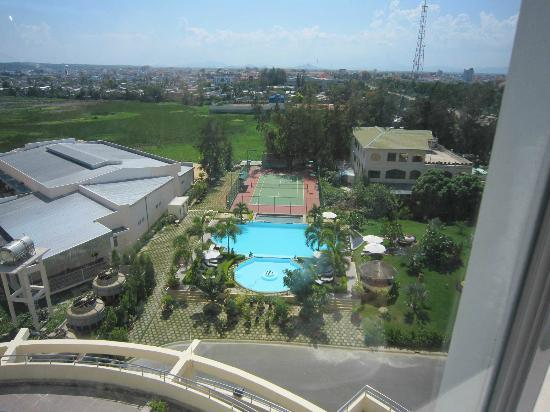 TTC Hotel Premium Phan Thiet: View from back room showing hotel pools