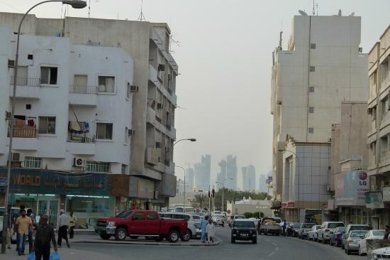 Royal Qatar Hotel: Corniche in Distance