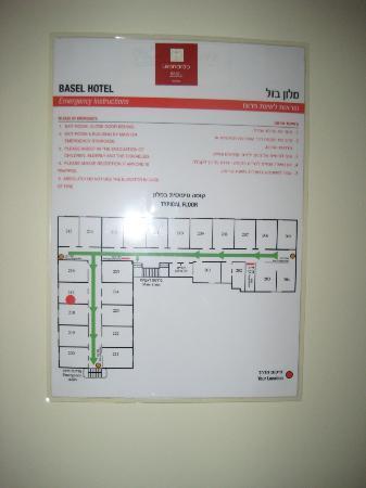 Leonardo Beach Tel Aviv Hotel: Plan d'étage (côté au calme total : 216 à 220)