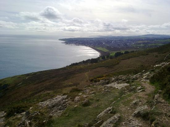 The Bray to Greystones Cliff Walk: View over Greystones