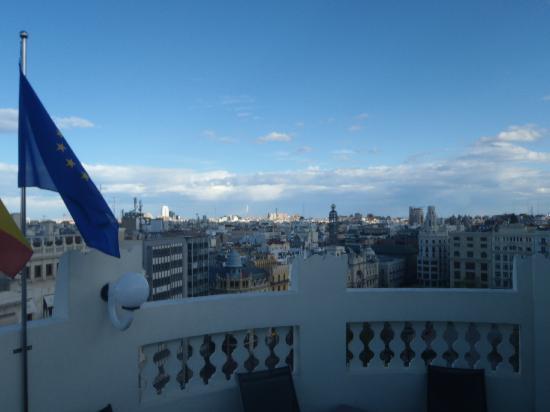 Melia Plaza: vista dalla terrazza yacuzzi