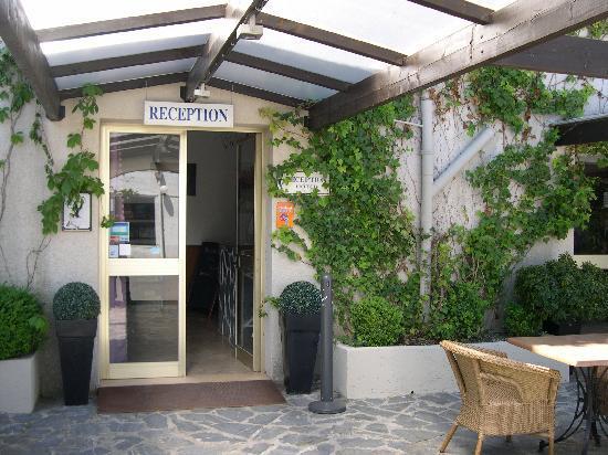 L'Hotel Costa Verde: Accueil de l'hôtel Costa Verde à Moriani Plage San Nicolao en Corse