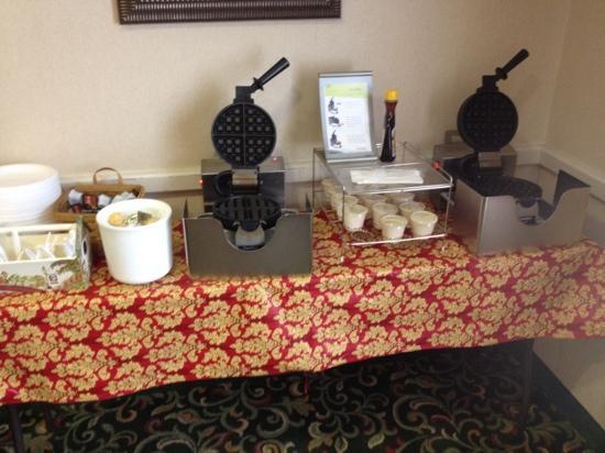 Fairfield Inn & Suites Harrisburg Hershey : waffle station
