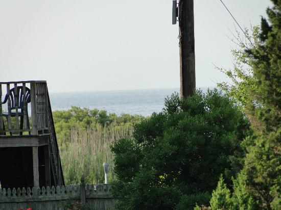 The Mission Inn: view of ocean from verandah