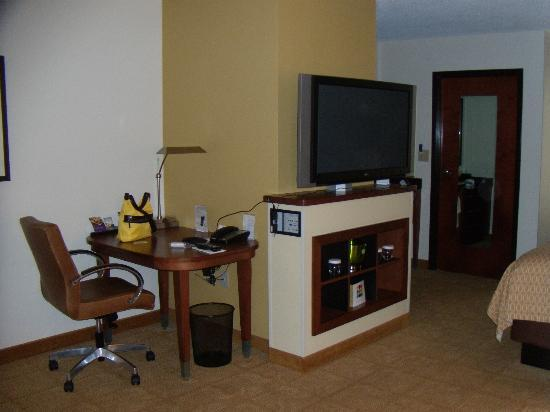 Hyatt Place Richmond / Arboretum: Computer desk with tv view