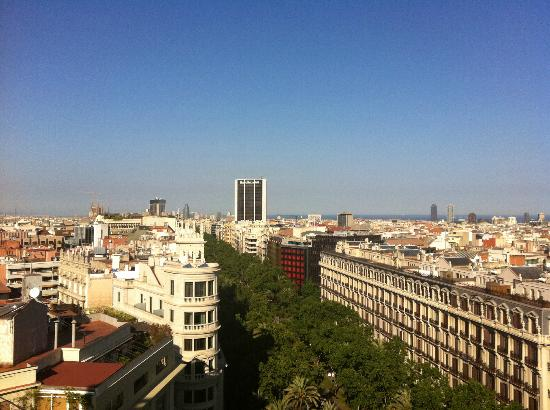 NH Hesperia Barcelona Presidente: View from the room one afternoon...
