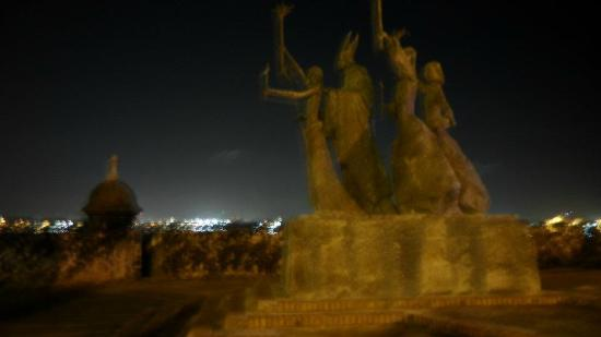 Legends of Puerto Rico: La Rogativa- I think my favorite sculpture in the city, lovely at night