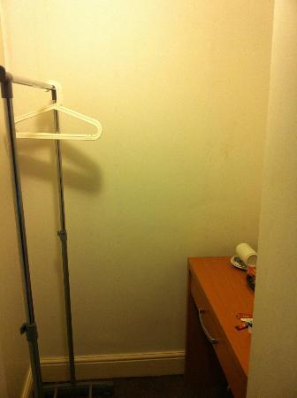 Swinton Hotel: secret cupboard comtaining drink facilities