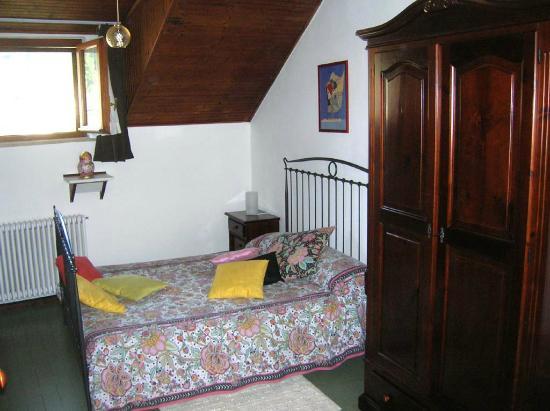 B&B IA : La camera da letto.