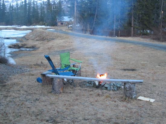 Adventure Denali: outside fire pit