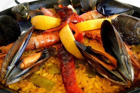 The Old 5 Mile House: Paella on the patio Friday nights in the summer.