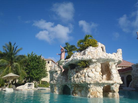 Coco Beach Resort Jumping Off The Water Slide