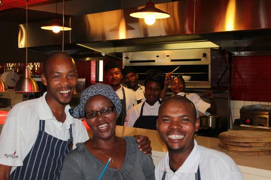 The Grillroom: service staff prior to the evening meal