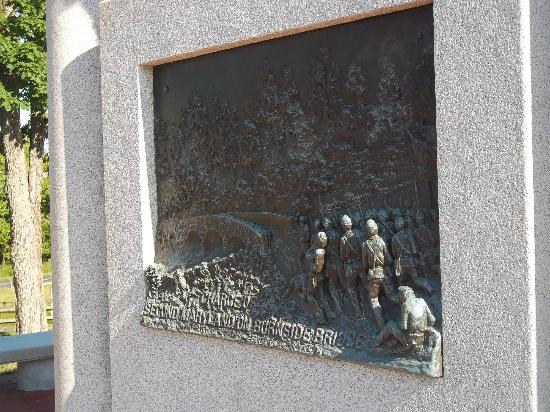 Antietam National Battlefield: Detail of the Maryland state memorial