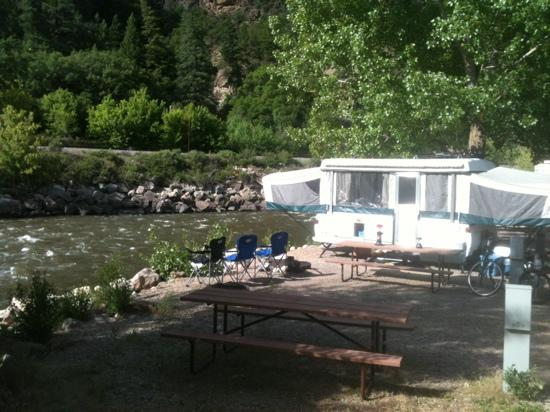 Glenwood Canyon Resort: our site on the river