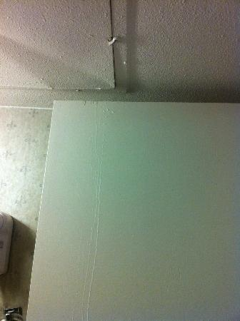 Hawthorn Suites by Wyndham Dallas Love Field: Ceiling leaking and running down bathroom door