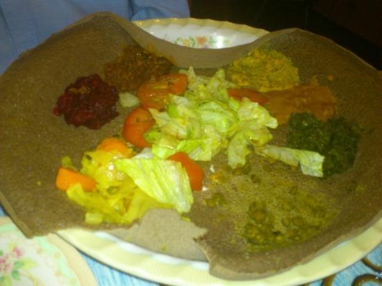 Lalibela Restaurant: Vegetable Platter