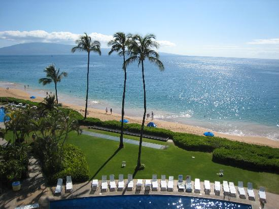 Royal Lahaina Resort: View from room over looking pool and beach.