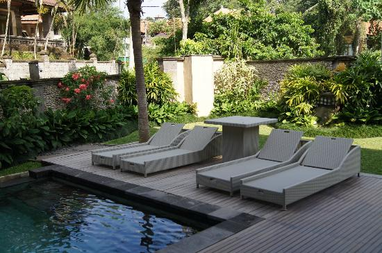 Indira Cottage : Relaxing at the pool