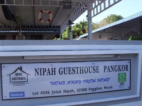 Nipah Guesthouse: Entrance Signage