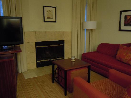 Residence Inn Syracuse Carrier Circle: Fireplace!!