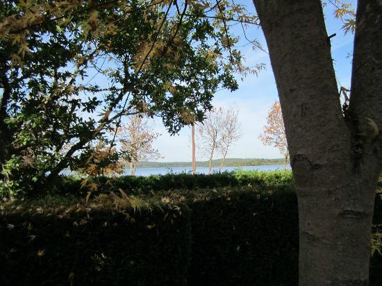 Camping Domaine d'Eurolac: Vue sur l'étang