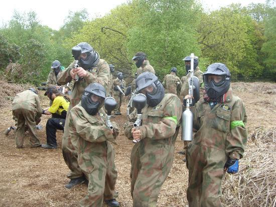 Delta Force Paintball Lichfield: kids about to take me out !