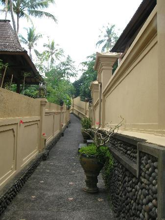Tanah Merah Art Resort: Entrance leading to the pool and the studio on the right