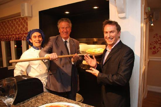 Cibo Restaurant: Our Local MP enjoying pizza