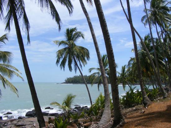 Iles du Salut, French Guiana: la mer...