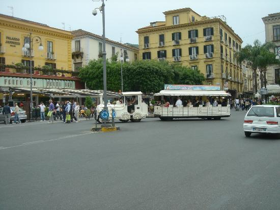 Piazza Tasso and tourist trolley.