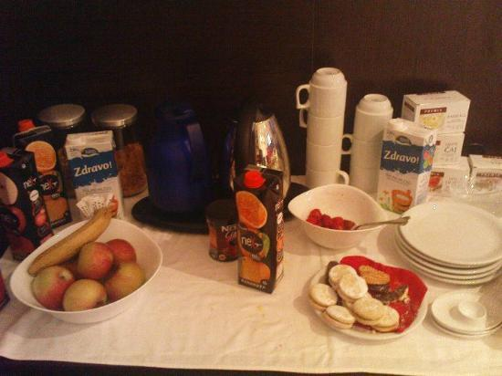 Vila Senjak Belgrade: breakfast