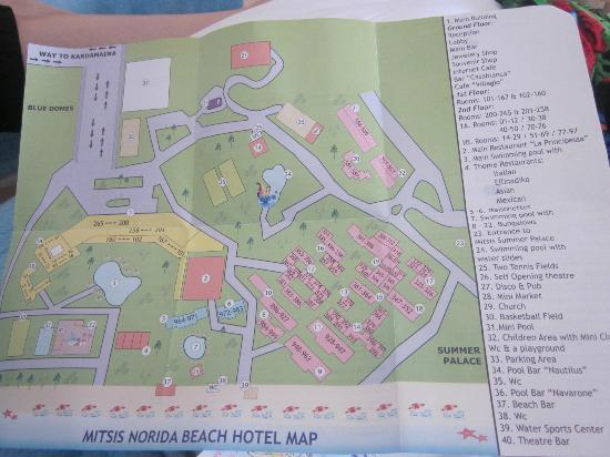 Map Picture Of Mitsis Norida Beach Hotel Kardamena