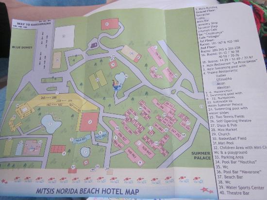 Mitsis Norida Beach Hotel: Map!