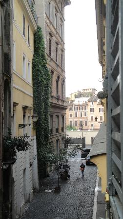 Residenza Navona First: Looking out our bedroom window