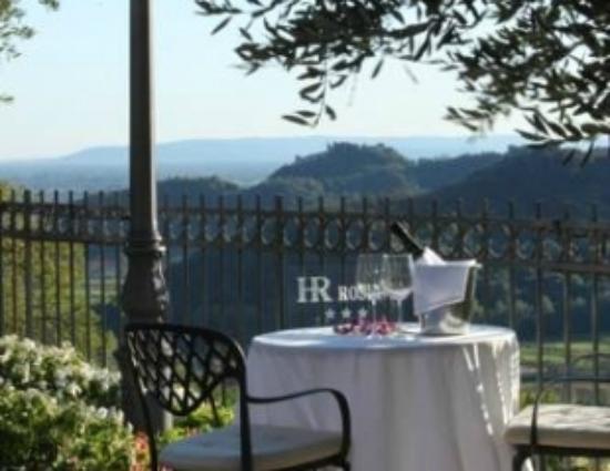 Ristorante Hotel La Rosina : Ristorante La Rosina overlooks Valle San Floriano