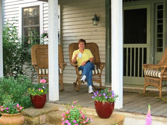 William Cox Inn: on porch of front historic building