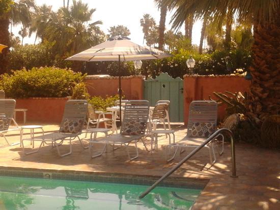 فيلا روزا إن: Poolside lounging!