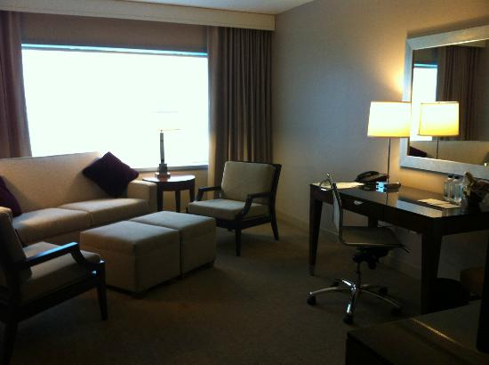 Westin Charlotte: Parlour of my suite