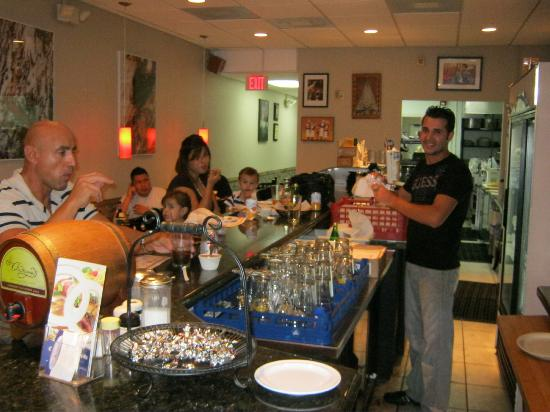 Cafe Charlotte : Owner/ Chef behind the counter
