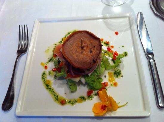 A Furana : blinis de châtaigne au jambon et fromage corses