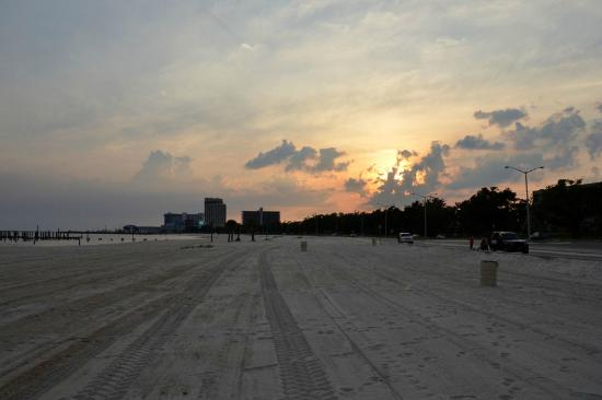 Palace Casino Resort: Beach nearby at sunset