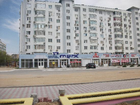Kazakhstan: Front of building where we stayed