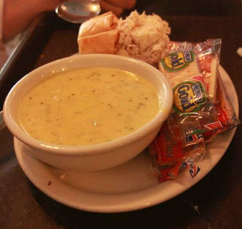 Must Be Heaven: Light lunch includes soup and chicken or tuna salad.