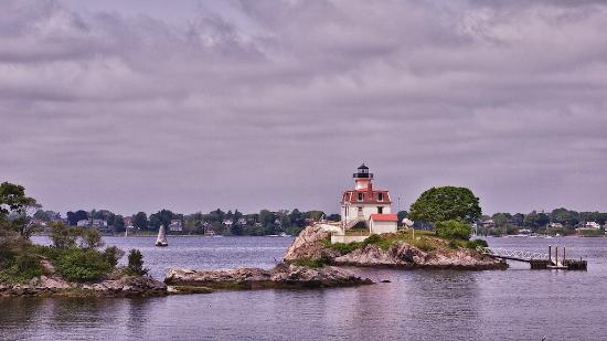 Rhode Island: Pomham Rocks Light. Riverside, RI