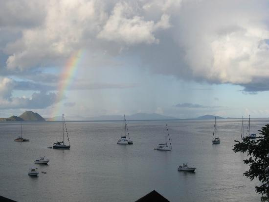 The Lighthouse Villas: A morning rainbow.