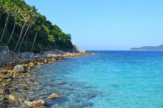 BuBu Long Beach Resort: snorkeling area by the jetty along long beach