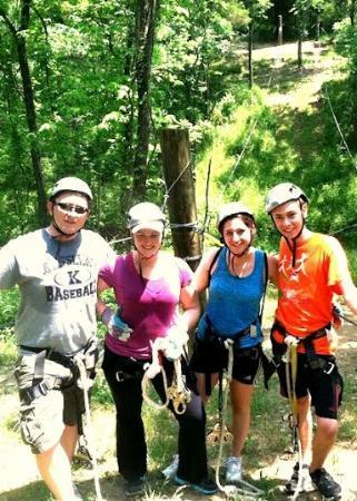 Dagaz Acres Zipline Adventures : Last zipline! All smiles :D