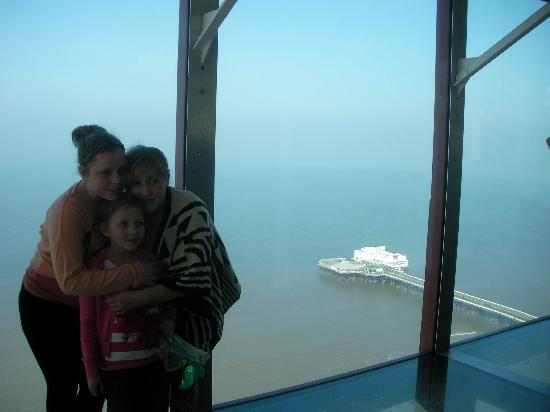 The Blackpool Tower: standing on the glass floor
