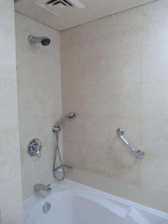 Crowne Plaza Abu Dhabi: Shower in the tub